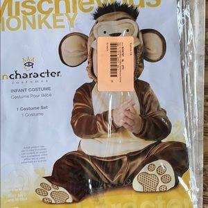 Mischievous Monkey costume size 6-12 months